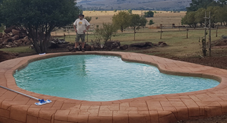 new swimming pool installation